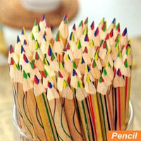 10 pcs/Lot Rainbow color pencil 4 in 1 colored pencils for drawing S