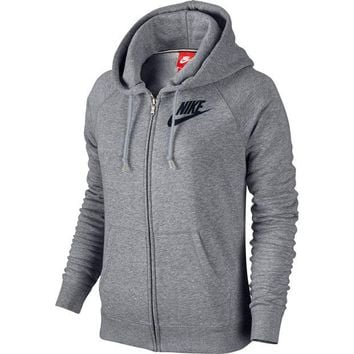 PEAP2Q nike fashion women winter zip up hoodie jacket sweater