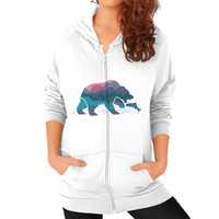 Bear Country Zip Hoodie (on woman)