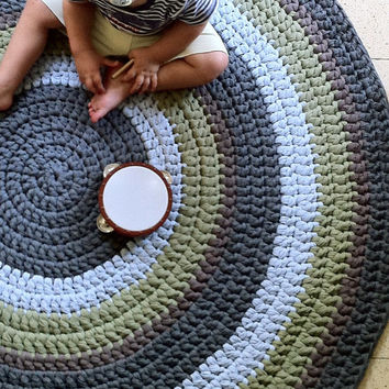 How To Crochet A Round Rug Home Decor