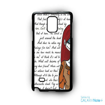Jack And Sally Nightmare Before Christmas Couple A for Samsung Galaxy Note 2/Note 3/Note 4/Note 5/Note Edge phone case