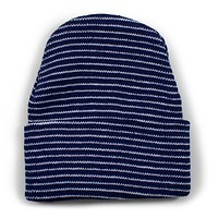 Newborn Stripe Knit Cap