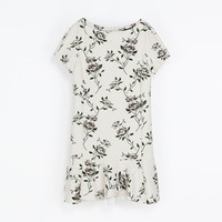 FLORAL NEOPRENE DRESS - Dresses - Woman | ZARA United States