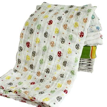 Cotton Muslin Swaddle Blanket for Infants