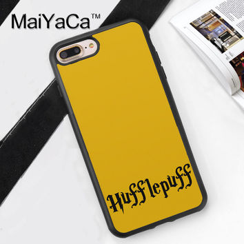 Harry Potter Hufflepuff Printed Soft Rubber Phone Cases For Apple iphone 6 Case For iphone 6S 6Plus 7 7Plus 5 5S 5C SE 4S Cover