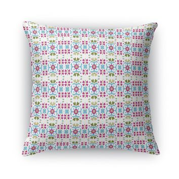 BRIGHT BOHO FLOWER FIELD Accent Pillow By Heidi Miller