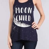 Moon Child Graphic Racerback Tank Top
