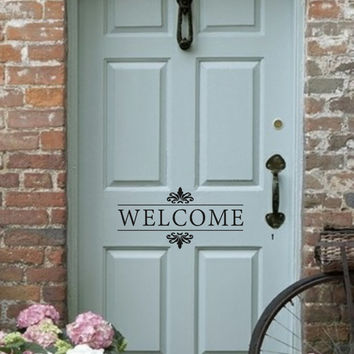 Wonderful Welcome Vinyl Wall Decal   Front Door/Back Door Vinyl Lettering For The Home