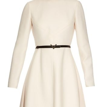 Long-sleeved wool and silk-blend crepe dress | Valentino | MATCHESFASHION.COM US