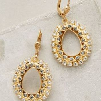 La Vie Parisienne Entendre Hoops in Gold Size: One Size Earrings