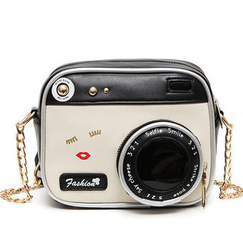 Cute 3D Camera Mini Crossbody Leather Bag