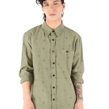 """Men's """"Homeland Security"""" Button Up by Iron Fist (Olive)"""