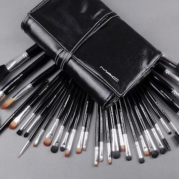 Mac Makeup Sets Brand Brushes Set 32 Pcs Black Professional Cosmetics Brush Kits Make Up Tools - Beauty Ticks