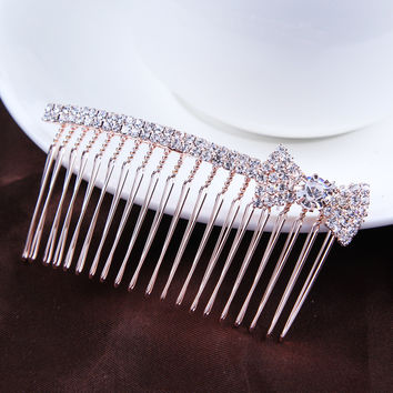 1PC New High Quality Luxurious Noble Crystal Hair Combs Girls Hair Clips Elegance Hairpins Headbands For Women Hair Accessories