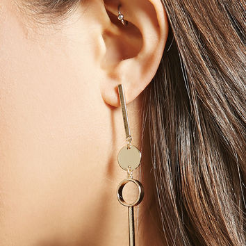 Geo Matchstick Drop Earrings