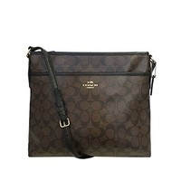 Coach Signature File Crossbody Bag