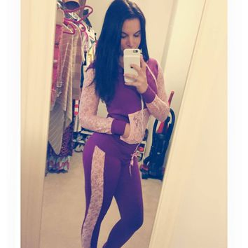 Barbelle Doll Lace Tracksuit Bottoms