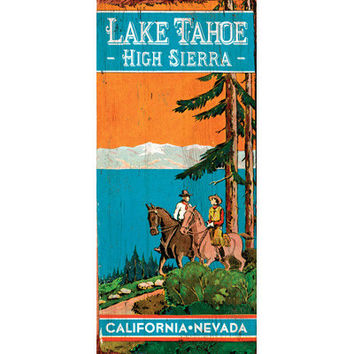 Personalized Lake Trot Wood Sign