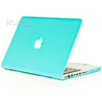 "Kuzy - Coral Blue 13inch Rubberized Satin Hard Case Cover for MacBook Pro 13.3"" (A1278 with or without Thunderbolt) Aluminum Unibody"