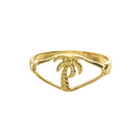 Palm Tree Knuckle Ring