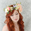 Boho flower crown, wedding head piece, bridal hair accessory, woodland wedding - dreaming of spring