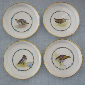Royal Worcester Fine Bone China England Game Birds Coaster Set