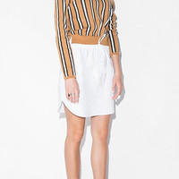Stripe Knitted Top & Midi Skirt