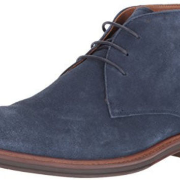 ALDO MENS GRANGES CHUKKA BOOT, NAVY SUEDE, 7 D US