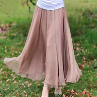 Elegant Slim Chiffon Long Skirt