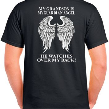 My Grandson Is My Guardian Angel He Watches Over My Back! Basic Tee
