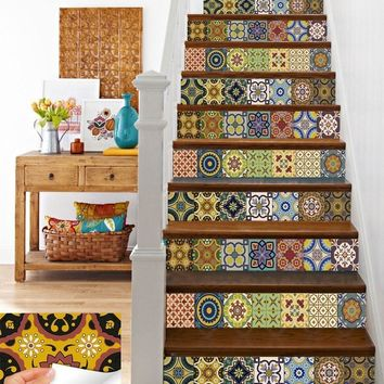 Moroccan Boho Tile Decals Backsplash Wall Decor