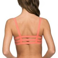 Freedom in Motion Caged Bralette in Coral | Sincerely Sweet Boutique
