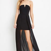 Strapless Chiffon Layer Dress
