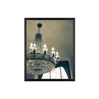 Lux Chandelier Framed Print by Rebecca Plotnick