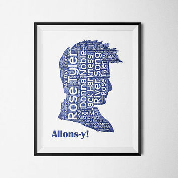Allons-y, 10th Doctor, Doctor Who - Printable Poster - Digital Art - Download and Print