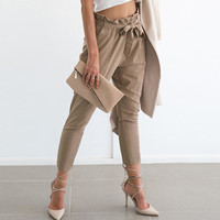 Slim Skinny Pants Summer Hot Sale Women's Fashion Ladies Pants Waistband [9430660100]