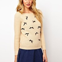 Sugarhill Boutique Bowtime Chunky Knit at asos.com