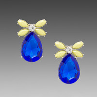 8 Other Reasons Rifle Earrings in Blue/Yellow