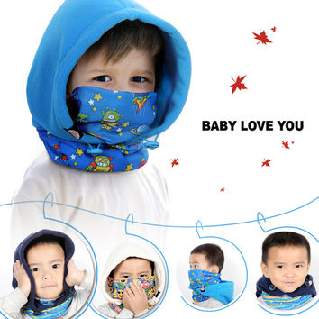 Kid's Fleece Balaclava  Face  Mask Neck Hood Hat Cap Cosplay Child Winter Warmers Cold-proof Hurricane Lamp