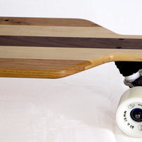 LONGBOARD SKATEBOARD, Amazing Hardwood Cruiser, Complete Long Board with Trucks & Wheels