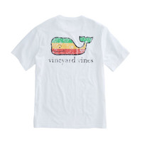 Short-Sleeve Rasta Whale Pocket T-Shirt