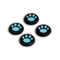 4 PCS Replacement Gamepad Sticker Controller Catlike Thumb Stick Caps for PS4 PS3 PS2 Xbox One 360 Silicone Game Controller