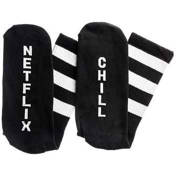 Netflix...Chill Socks in Black and White