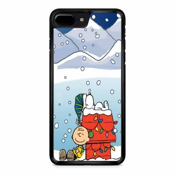 Charlie And Snoopy Brown Christmas iPhone 8 Plus Case