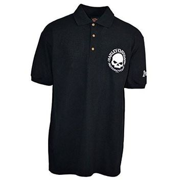Men's Polo Shirt Harley-Davidson trademark - Willie G | Overseas Tour Shirt with Three Buttons