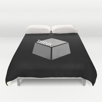 Think outside the box Duvet Cover by Xiari