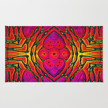 Saturation Overload Area & Throw Rug by Lyle Hatch