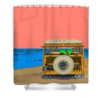 Woody at Cape May Shower Curtain