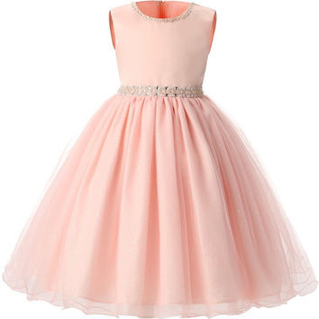 Aini Babe Baby Girl Kids Dresses For Wedding Evening Party Princess Dress Girl Costume Children Prom Fancy Dress Ceremonies Gown