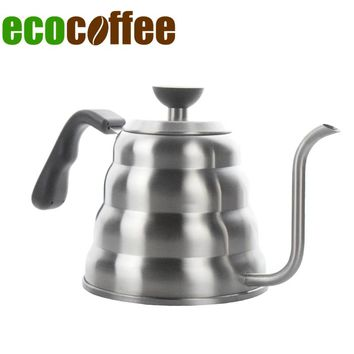 Ecocoffee 1.2l/40oz Pour Over Coffee Tea Kettle Gooseneck Pot For Stove V60 Percolator 304 Stainless Steel Teapot Stocked Sale